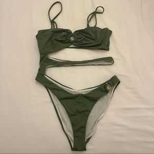 Urban Outfitters Olive green swimsuit bodysuit